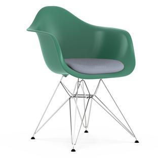 DAR Ocean|Mit Sitzpolster|Dunkelblau / elfenbein|Standardhöhe - neu (43 cm)|Verchromt