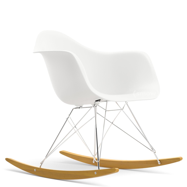 Vitra Rar Weiß Verchromt Ahorn Gelblich Von Charles Ray Eames
