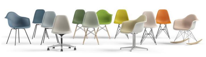 Vitra Eames Plastic Armchair PACC, Rose pâle, Sans