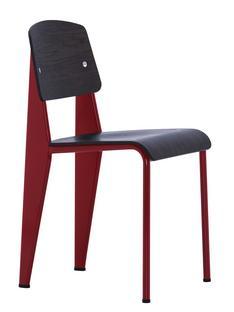 Standard Gestell japanese red/Sitz, Rücken Eiche dunkel