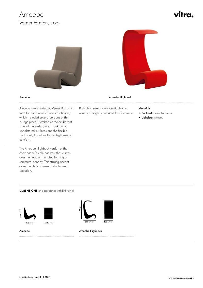 Vitra Amoebe Highback by Verner Panton, 1970 - Designer furniture ...