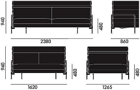 vitra alcove sofa von ronan erwan bouroullec 2006 designerm bel von. Black Bedroom Furniture Sets. Home Design Ideas