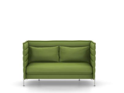 Vitra Alcove Sofa Zweisitzer H94 X B164 X T84 Cm Laser Grun Von