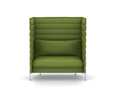 High Back Sofa | Vitra Alcove Highback Sofa Love Seat H136 X B126 5 X T84 Cm