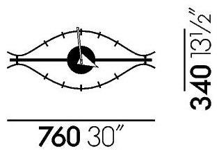 vitra eye clock von george nelson 1950 designerm bel. Black Bedroom Furniture Sets. Home Design Ideas