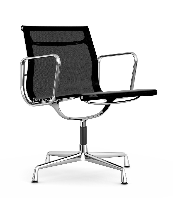 vitra ea 107 ea 108 ea 108 drehbar verchromt netzgewebe aluminium group schwarz von. Black Bedroom Furniture Sets. Home Design Ideas