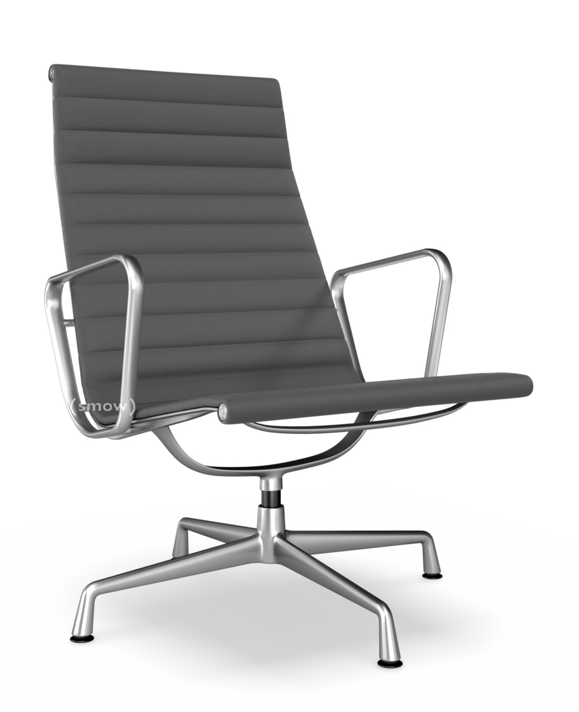 Vitra Aluminium Chair EA 116, Poliert, Hopsak, Dunkelgrau