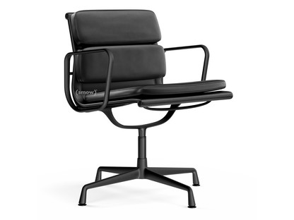 Soft Pad Chair EA 207 / EA 208 EA 208 - drehbar|Aluminium pulverbeschichtet tiefschwarz|Nero