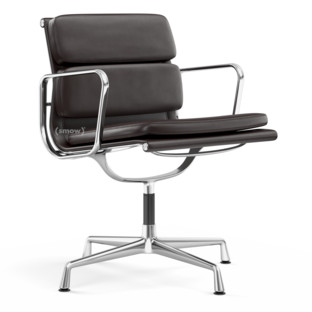 Soft Pad Chair EA 207 / EA 208 EA 208 - drehbar|Verchromt|Chocolate