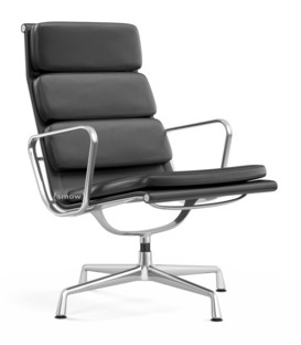 Soft Pad Chair EA 215 / EA 216 Drehbar Poliert Leder asphalt