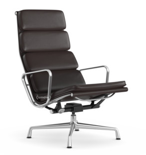 Soft Pad Chair EA 222 Untergestell poliert|Chocolate