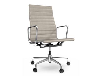 Aluminium Chair EA 119 Poliert|Leder|Sand