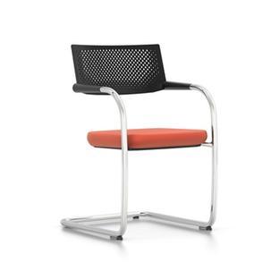 Visavis 2 Plano|Orange|Basic dark|Untergestell glanzchrom|Nicht stapelbar