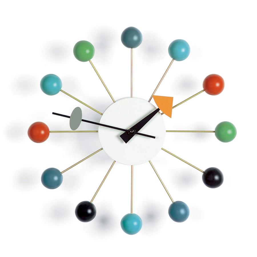 vitra ball clock kugeln orange von george nelson 1948 designerm bel von. Black Bedroom Furniture Sets. Home Design Ideas
