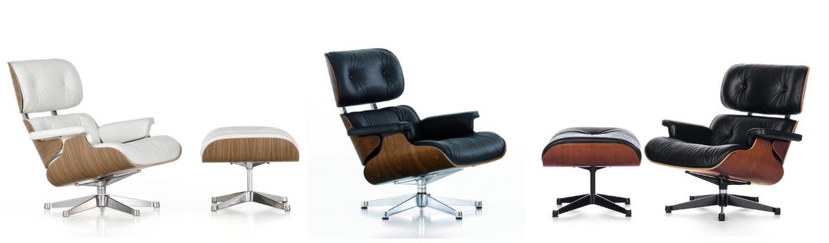 Vitra lounge chair white version by charles ray eames 1956 designe - Eames lounge chair prix ...