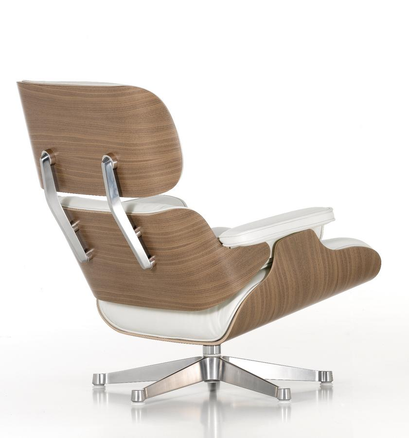 Vitra lounge chair white version von charles ray eames for Vitra lounge chair nachbau