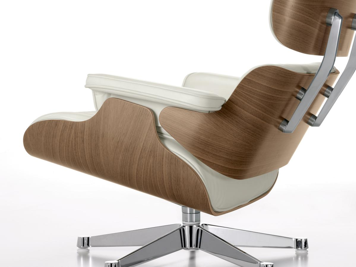 vitra lounge chair ottoman white version von charles. Black Bedroom Furniture Sets. Home Design Ideas