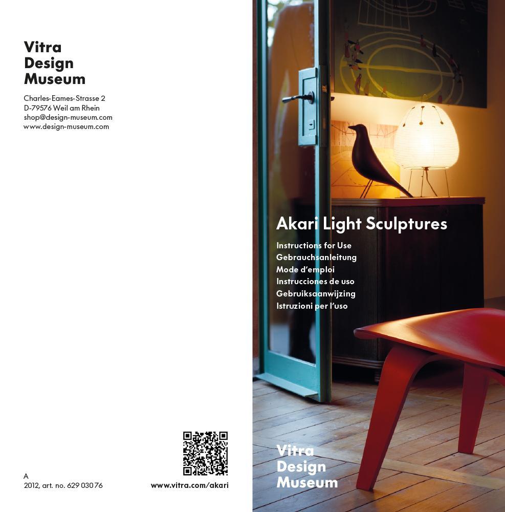 vitra akari 3ad von isamu noguchi designerm bel von. Black Bedroom Furniture Sets. Home Design Ideas
