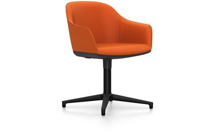 Softshell Chair auf Viersternfuß Aluminium pulverbeschichtet basic dark|Plano|orange