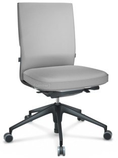 ID Soft FlowMotion-mit Vorwärtsneigung, mit Sitztiefenverstellung|Ohne Armlehnen|5-Stern Untergestell, Kunststoff basic dark|Basic dark|Sitz und Rücken Silk Mesh|Soft grey