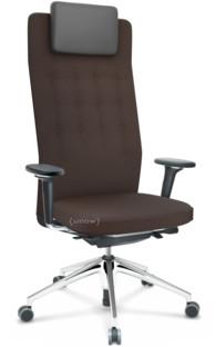 ID Trim L FlowMotion mit Sitztiefenverstellung|Mit 3D-Armlehnen|Basic dark|Stoff Plano braun