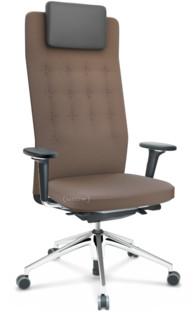 ID Trim L FlowMotion mit Sitztiefenverstellung Mit 3D-Armlehnen Basic dark Stoff Plano coffee