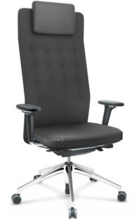 ID Trim L FlowMotion mit Sitztiefenverstellung|Mit 3D-Armlehnen|Basic dark|Stoff Plano dunkelgrau