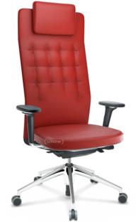 ID Trim L FlowMotion ohne Sitztiefenverstellung Mit 3D-Armlehnen Basic dark Rot