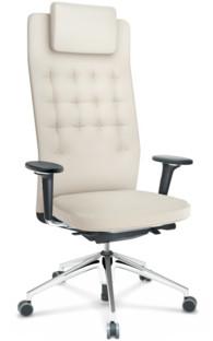ID Trim L FlowMotion mit Sitztiefenverstellung|Mit 3D-Armlehnen|Basic dark|Leder snow