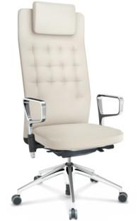 ID Trim L FlowMotion ohne Sitztiefenverstellung|Mit Ringarmlehnen (höhenverstellbar)|Basic dark|Leder snow