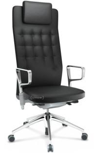 ID Trim L FlowMotion ohne Sitztiefenverstellung Mit Ringarmlehnen (höhenverstellbar) Soft grey Leder nero