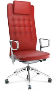 ID Trim L FlowMotion ohne Sitztiefenverstellung|Mit Ringarmlehnen (höhenverstellbar)|Soft grey|Rot