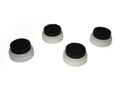 Gleiter (1 Satz) für Vitra Stühle Für DAW/DSW/DKW|Filzgleiter für harte Böden, weiß