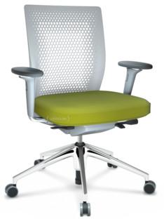 ID Air Soft grey|Stoff Plano-68 avocado|Soft grey|5-Stern Untergestell, Aluminium poliert|Mit 3D-Armlehnen