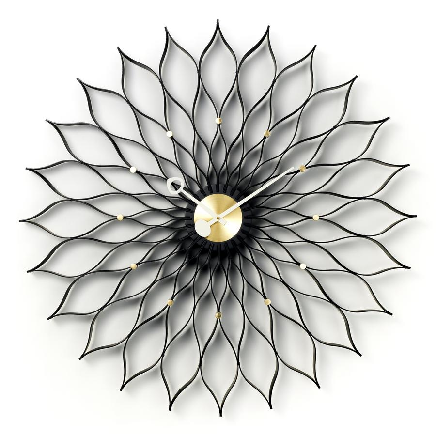 vitra sunflower clock black von george nelson 1958. Black Bedroom Furniture Sets. Home Design Ideas