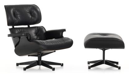 Lounge Chair & Ottoman - Black Version