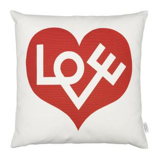 Graphic Print Pillows Love, red
