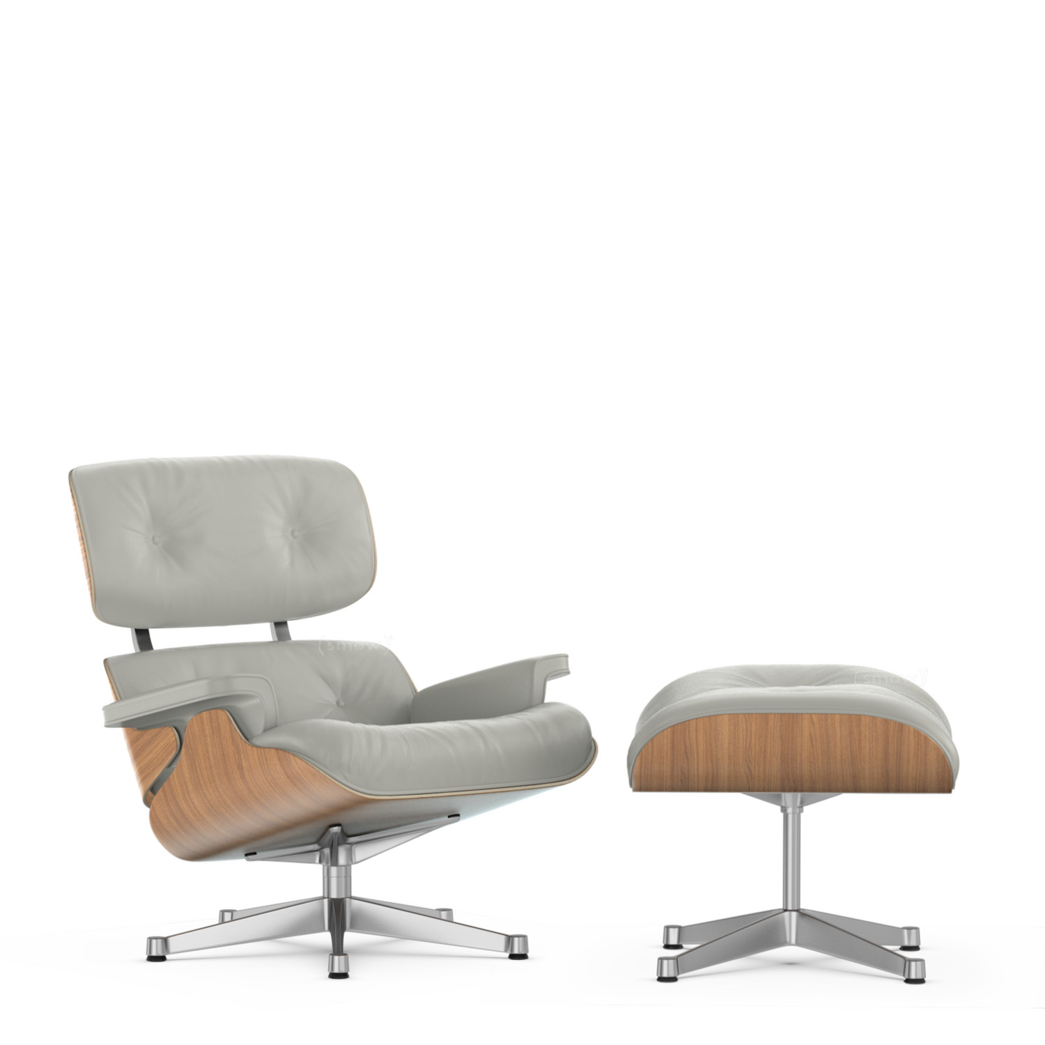 De Eames Stoel : Vitra lounge chair & ottoman beauty versions nussbaum weiß