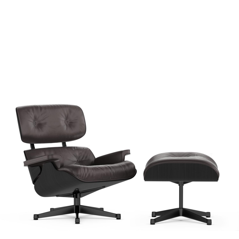 Vitra Lounge Chair Ottoman Beauty Versions Esche Schwarz
