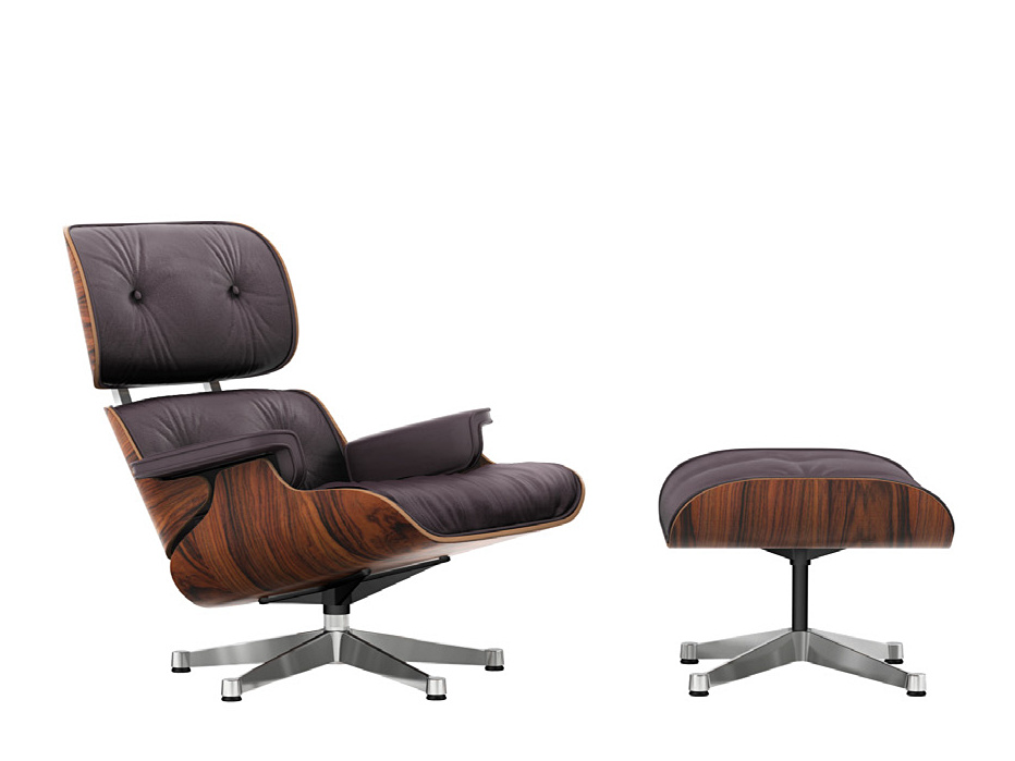 Vitra Lounge Chair & Ottoman - Beauty Versions, Santos Palisander ...