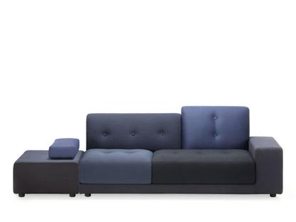 Polder Sofa Armlehne rechts|Stoffmix night blue