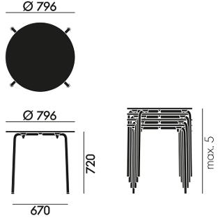 vitra hal table von jasper morrison 2010 designerm bel von. Black Bedroom Furniture Sets. Home Design Ideas