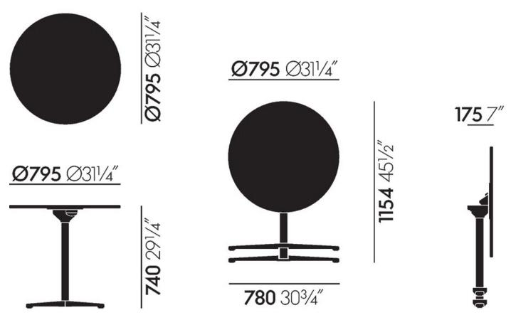 vitra super fold table von jasper morrison 2015 designerm bel von. Black Bedroom Furniture Sets. Home Design Ideas