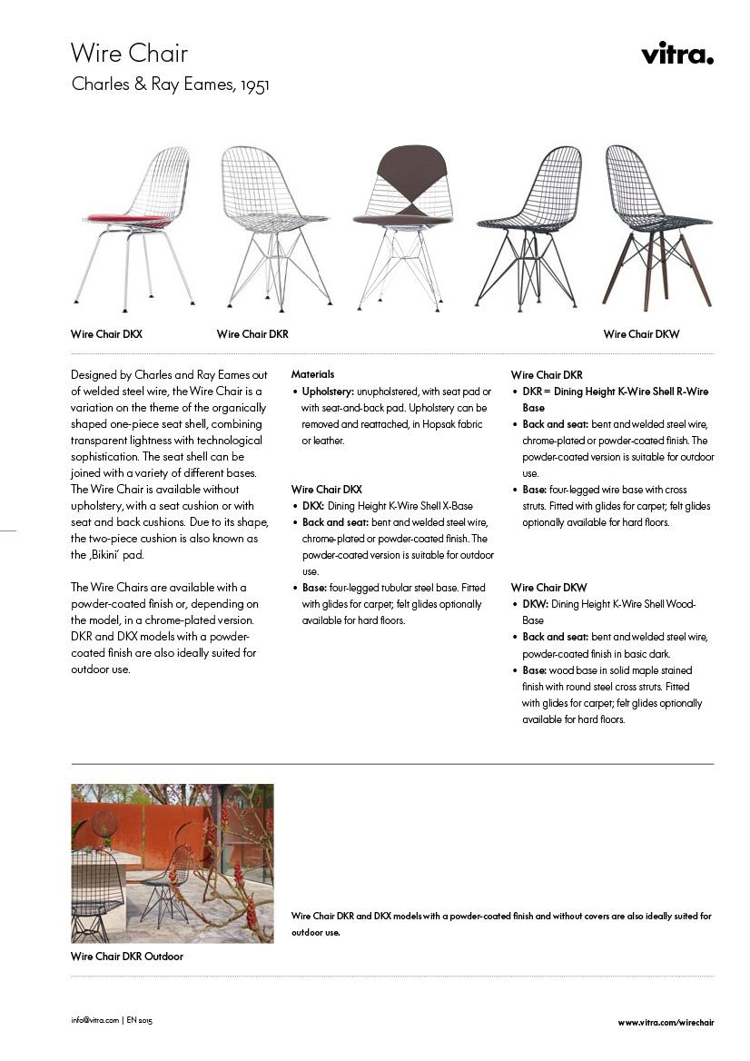 Eames wire chair dimensions - Produktdatenblatt Please Click On Picture For Detailed Information Ca 1 1 Mb