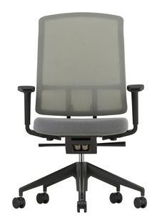 AM Chair Sierra grau|Sierragrau/nero|Mit 2D Armlehnen|Aluminium pulverbeschichtet tiefschwarz