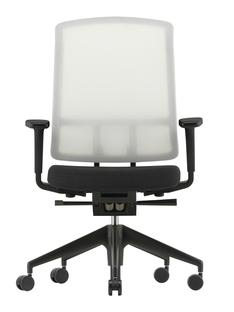 AM Chair Weiß Dunkelgrau/nero Mit 2D Armlehnen Kunststofffuß tiefschwarz