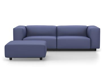 vitra soft modular sofa dumet blau grau mit ottoman von jasper morrison 2016 designerm bel. Black Bedroom Furniture Sets. Home Design Ideas