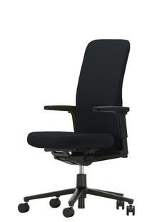 Pacific Chair Mittelhoch|Nero|Höhenverstellbare Armlehnen (Kunststoff)|Dunkel|Kunststoff