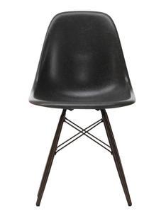 Eames Fiberglass Chair DSW Eames elephant hide grey|Ahorn schwarz