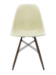 Eames Fiberglass Chair DSW Eames parchment|Ahorn dunkel